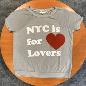 Wildfox 'NYC is for Lovers' Camden Top Grey sz. S